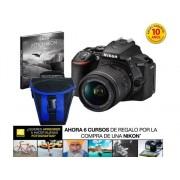 Nikon Kit Cámara Réflex NIKON D5600+AF-P 18/55VR+EST+LIV (24.7 MP - ISO: 100 a 25600 - Sensor: DX)