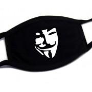 Bavlněné roušky na obličej se vzorem Anonymous