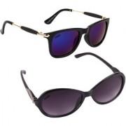 Aligatorr Combo Of 2 Cat Eye Wayfarer Unisex Sunglasses ldy greybb merCRLK