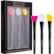 Makeup Revolution Silicone Contour set pensule de silicon pentru conturare 3 buc