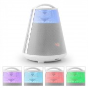 FREESOUND65 Coluna Bluetooth c/ Bateria áudio 360° LED AUX USB SD UKW Branca