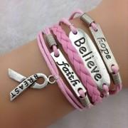 Believe, Faith & Hope-armband