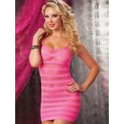 H31024 Fishnet Chemise Dress