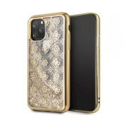 Apple GUESS Peony Liquid Glitter Gold for Apple iPhone 11 Pro