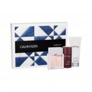 Calvin Klein Euphoria set cadou Apa de toaleta 100 ml +Balsam dupa ras100 ml + Deodorant solid 75 ml pentru bărbați
