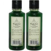 Khadi Pure Herbal Neem Sat Shampoo - 210ml (Set of 2)