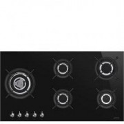 Smeg 90cm Classic Ultra Low Profile Gas-On Glass Hob PV395LCN