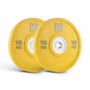 Performan Urethane Plates Coppia Pesi Dischi 15kg Gialli