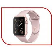 Умные часы APPLE Watch Series 2 42mm Rose Gold Aluminium Case with Pink Sand Sport Band MQ142RU/A