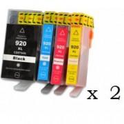 Pack de 8 cartuchos compatibles para HP 920XL
