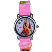 i DIVA'S 6th Dimensions Barbie Quartz Analog Watch Pink Colour Steel Body Kids Watch