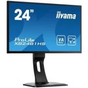 "IIYAMA 24"" LCD iiyama XB2481HS-B1 - VA, 6ms,250cd/m2,3000:1 (12M:1 ACR),VGA,D"