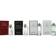 Cartier Miniatures Gift Set 4ml Declaration EDT + 4ml Declaration D'Un Soir EDT + 4ml Eau de Cartier EDT + 4ml Eau de Cartier Concentree EDT