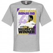 Retake Ronaldo 4 Times Ballon d'Or Winnaar Real Madrid T-Shirt - L