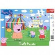Puzzle Purcelusa Peppa 15 piese