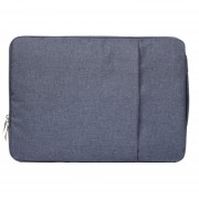 15,4 Pulgadas Moda Suave Denim Bags Portable Universal Laptop Notebook Laptop Funda Con Cremallera Para Macbook Air / Pro, Lenovo Y Otros Laptops, Tamaño: 39.2x28.5x2cm (azul Oscuro)