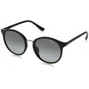 Vogue Ray-Ban anteojos de sol redondas de plstico para mujer, 54 mm, color negro