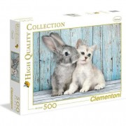 Puzzle Clementoni High Quality Collection: Cat & Bunny, 500 piese