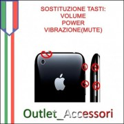 Sostituzione Cambio Riparazione Tasti Power Volume Vibrazione per Apple Iphone 3G 3GS