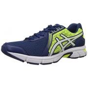 Asics Men's Gel Impression 8 Navy, White and Flash Yellow Mesh Running Shoes - 9 UK
