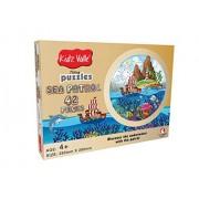 Kidz Valle Sea Patrol Puzzle 42 Piece Tiling Puzzles Circular Puzzle (Jigsaw Puzzles, Puzzles for Kids, Floor Puzzles), Puzzles for Kids Age 4 Years and Above. Size: 32.5 cm x 23.5 cm