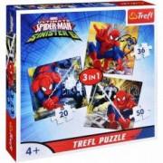Jucarie Puzzle 3 in 1 In lumea lui Spiderman 34822 Trefl
