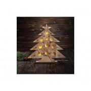 Markslöjd 703920 - Decorațiune de crăciun LED HULDA 10xLED/0,6W/3xAA brăduț