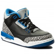 Pantofi NIKE - Air Jordan 3 Retro BG 398614 007 Black/Sport Blue/Wolf Grey