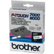 Banda continua laminata Brother TX211, 6mm, 15m