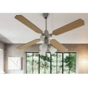 Ventilador techo focos palas reversibles 50952 we
