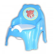 Scaunel pentru bebelusi cu olita cu capac fixat si cotiere