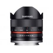 Canon Objetivo SAMYANG 8mm F2.8 Ii ojo de pez M (Negro - Encaje: Canon EF-M - Apertura: f/2.8 - f/22)