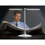 Vasner Splitty LED Schreibtischleuchte, 6,5 W, Touch dimmbar, Akku Timer, Weiß