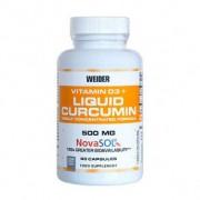 Weider Suplemento alimentar Vitamina D3 + Açafrão Líquido 90 cápsulas
