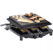 Raclette gril Steba Germany RC4 plus deluxe, 8 pánví, černá