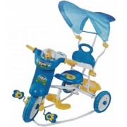 Oh Baby Baby Bike Musical With Tubeless Tyre 3 In 1 Function Blue Color Tricycle For Your Kids SE-TC-33