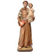 S. Antonio da Padova con Bambino in legno 50 cm color