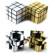 Puzzle Magic Mirror Rubik Cube-2 pcs(Golden Silver Plastic)