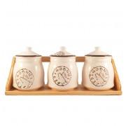 Set Clock din Ceramica 3 Recipiente