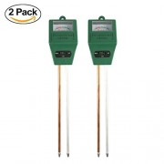 Yuxier 2-in-1 PH Meter Moisture Meter Sensor Hydrometer for Indoor/Outdoor Gardening, Farming