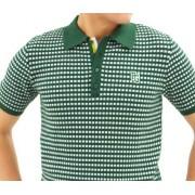 パーリーゲイツ 半袖トップス ゴルフウェアメンズ 伸びる!ニット編みポロ