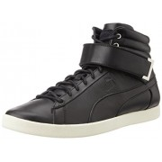 Puma Unisex Modern Court Hi Citi Series Black and Whisper White Sneakers - 11 UK