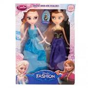 Rvold Frozen Girls Dolls - Princess Elsa & Princess Anna Doll