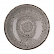 Churchill Super Vitrified Churchill Stonecast Round Coupe Bowl Peppercorn Grey 200mm