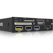 Card reader Cititor carduri IcyBox 3.5'' cu panou Multiport, 60 tipuri card, USB 3.0, eSATA