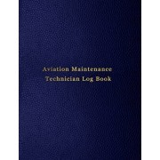 Aviation Maintenance Technician Log Book: AMT Aircraft mechanic logbook for aircaft repairs and mechanical record for mechanics - Blue leather print d, Paperback/Abatron Logbooks