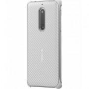 Nokia Produkt z outletu: Etui NOKIA Carbon Fibre Design Case CC-803 do Nokia 5 Perłowy