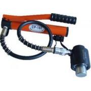 Hidraulikus kivágó szerszám+hordtáska+6 db colos présbélyeg - 150kN, 6200g, (D=21,8 / 27,6 / 34,1 / 42,7 / 48,7 / 60,5mm) HKS-15 - Tracon