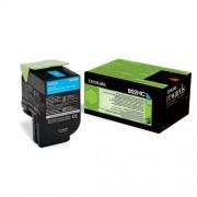 LEXMARK Cartridge for CX410de/ CX410dte/ CX410e/ CX510de/ CX510dhe/ CX510dthe - 3 000 pages, Cyan (80C2HC0)