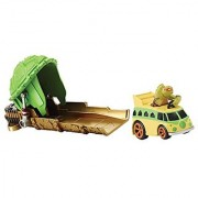 Teenage Mutant Ninja Turtles T-Machines Turtle Shell Launcher with Michelangelo in Classic Party Wagon Vehicle